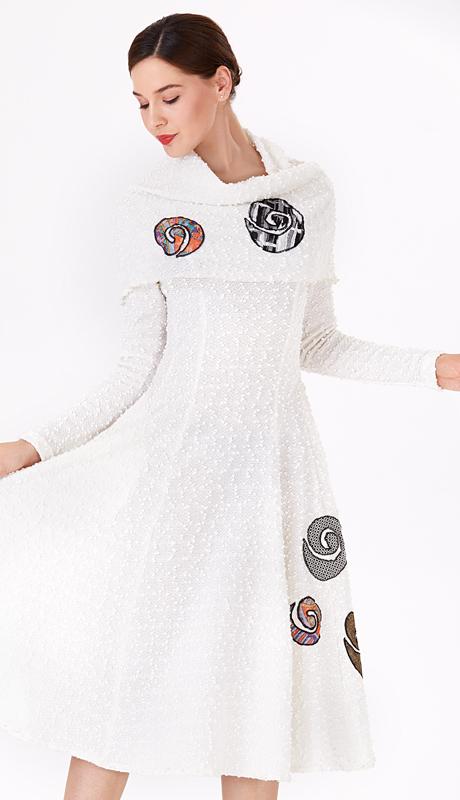 Serafina 6197-IV ( 1pc Novelty Ladies Dress For Church )