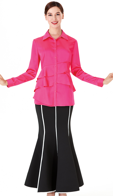 Serafina 3007B-4001S ( 2pc Scuba Knit Sunday Suit )