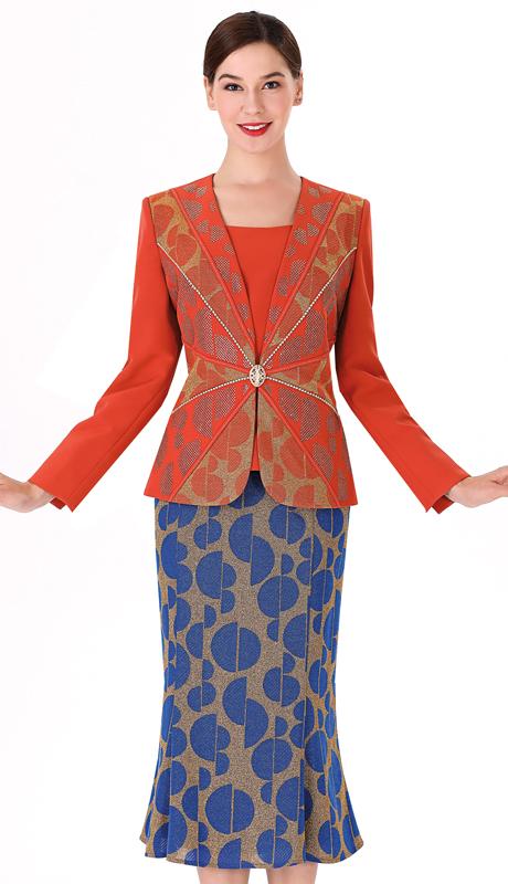 Serafina 3955-RG ( 3pc Novelty First Ladies Suit )