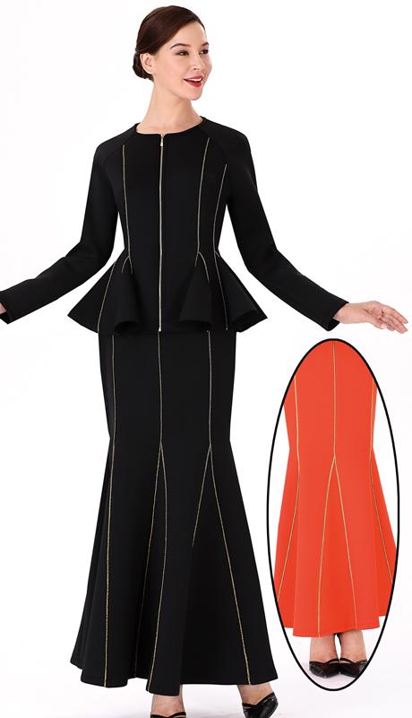 Serafina 3008J-3009S ( 2pc Scuba Knit Ladies Suit For Church )