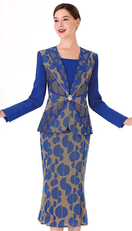 Serafina 3955 ( 3pc Novelty First Ladies Suit )