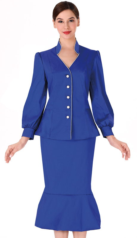 Serafina 3967 ( 2pc Taffeta Suit For Sunday )