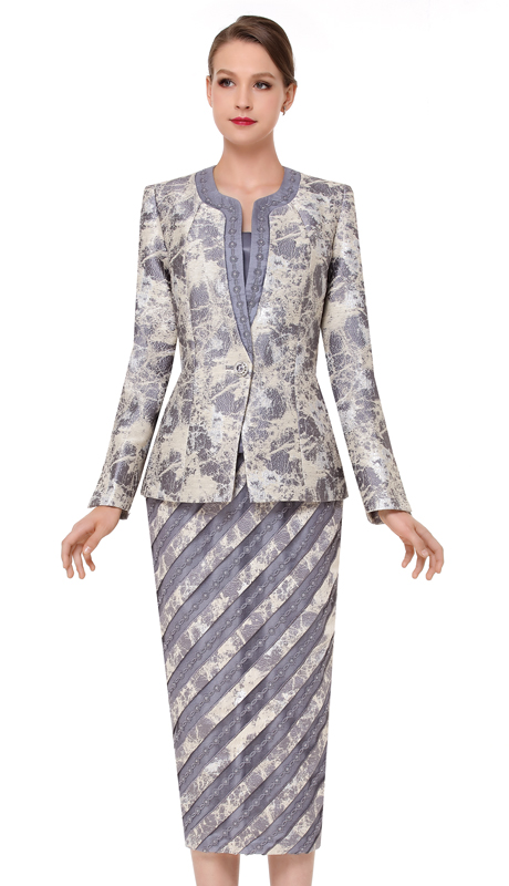 Serafina 3829-SS ( 3pc Novelty Womens Church Suit )
