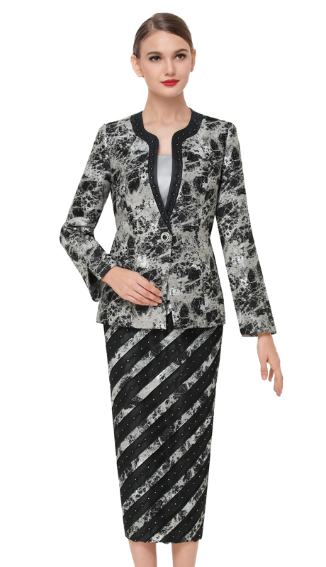 Serafina 3829-BS ( 3pc Novelty Ladies Church Suit )