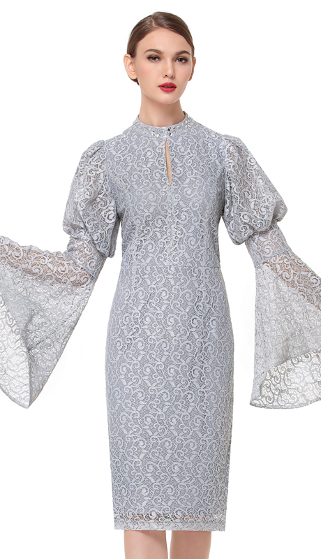 Serafina 6169-SI ( 1pc Lace Womens Dress For Church )