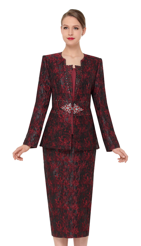 Serafina 3851-WI ( 3pc Novelty Ladies Church Suit )