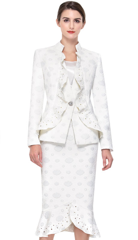 Serafina 3928-OS ( 3pc Novelty Ladies Sunday Suit )