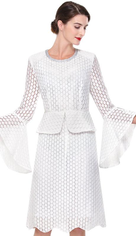 Serafina 6186-OW ( 2pc Novelty Ladies Dress For Church )