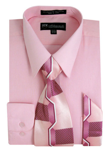 SG21Pink-J ( Matching Tie And Hanky Included )