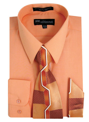 SG21Peach-J ( Matching Tie And Hanky Included )