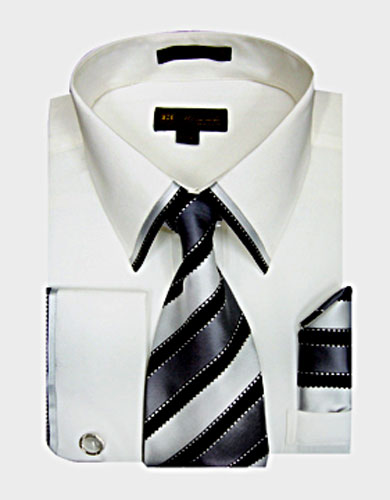 SG23W-H ( Matching Tie, Cuff Link And Hanky Included )