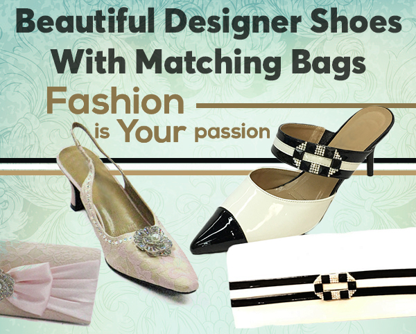 Beautiful Designer Shoes With Matching Bags