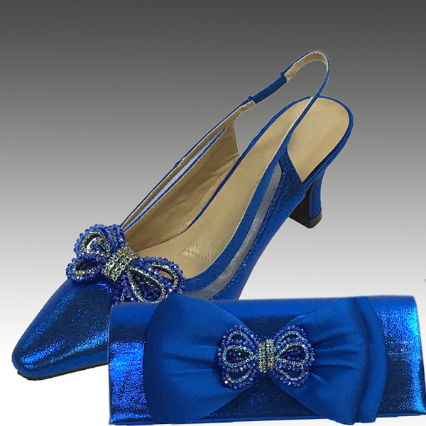 H103-Royal Shoe With Matching Hand Bag