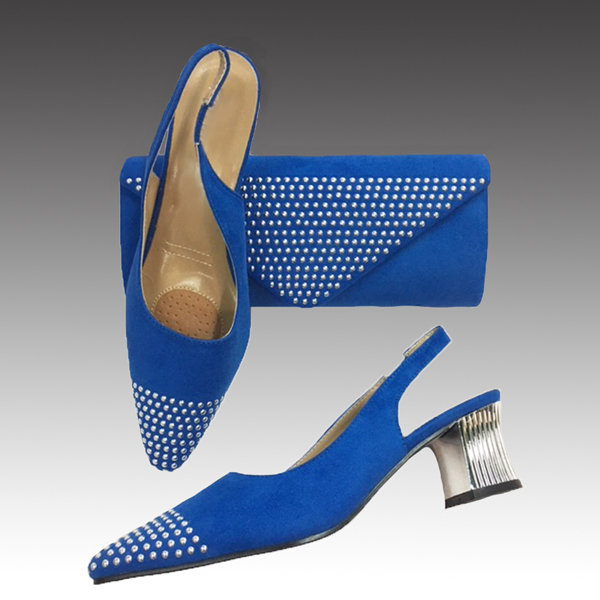 H126-Royal Shoe With Matching Hand Bag