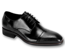 Mens Shoes By Steven Land SL0005-BLK ( Genuine Leather, Lace Up, Cap Toe Oxford, Made By Hand )