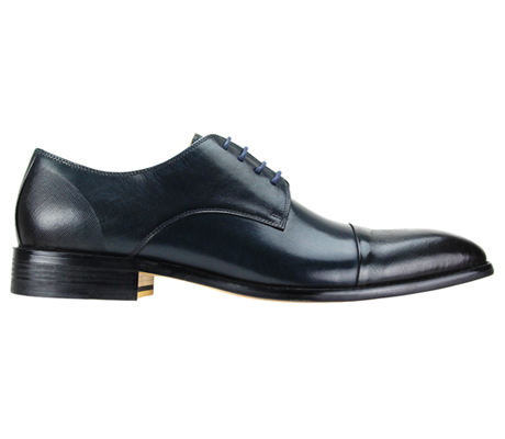 Mens Shoes By Steven Land SL0005-BLU ( Genuine Leather, Lace Up, Cap Toe Oxford With Ombre Effect, Made By Hand )