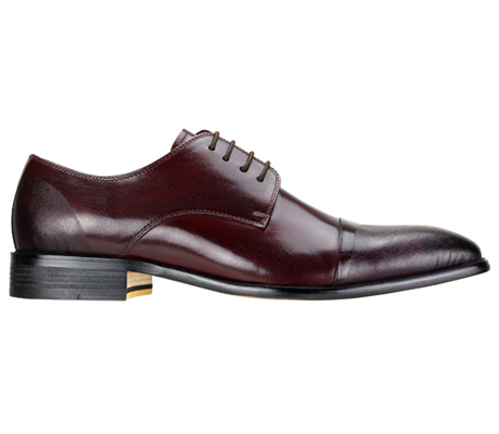 Mens Shoes By Steven Land SL0005-BURG ( Genuine Leather, Lace Up, Cap Toe Oxford With Ombre Effect, Made By Hand )