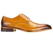 Mens Shoes By Steven Land SL0005-SCO ( Genuine Leather, Lace Up, Cap Toe Oxford With Ombre Effect, Made By Hand )