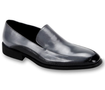 Mens Shoes By Steven Land SL0010-GRA ( Genuine Leather, Two-Tone, Slip On Loafers, Made By Hand )