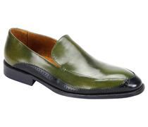 Mens Shoes By Steven Land SL0010-OL ( Genuine Leather, Two-Tone, Slip On Loafers, Made By Hand )