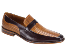 Mens Shoes By Steven Land SL0011-BURG ( Genuine Leather, Two-Tone, Slip On Loafers, Made By Hand )