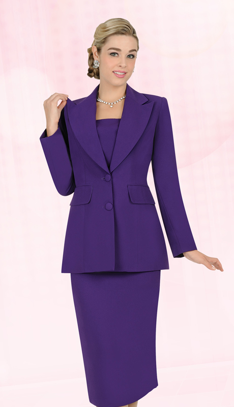 Aussie Austine Church And Choir Uniform 12442-PU  ( 2pc Renova Jacket And Skirt Womens Suit )