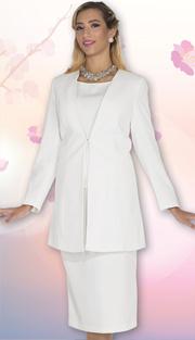 Aussie Austine Uniform 11812 ( 3pc Renova Jacket, Vest And Skirt Womens Suit For Church And Choir )