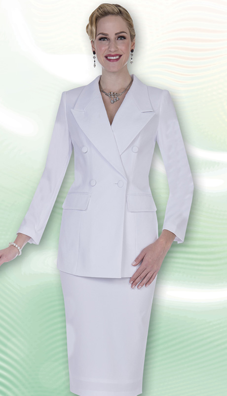 Aussie Austine Church And Choir Uniform 11804-WH ( 2pc Renova Jacket And Skirt Womens Suit )