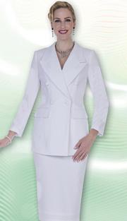 Aussie Austine Church And Choir Uniform 11804-WH ( 2pc Renova Jacket And Skirt Womens Suit )