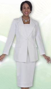Aussie Austine Church And Choir Uniform 12441-WH ( 2pc Renova Jacket And Skirt Womens Suit )