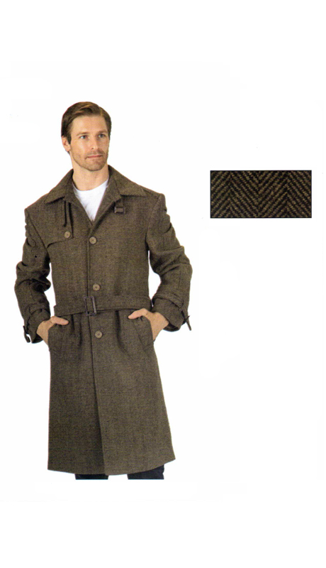 T4156-CO ( 1pc Topcoat, Single Breasted, Three Button, Side Entry Pockets )