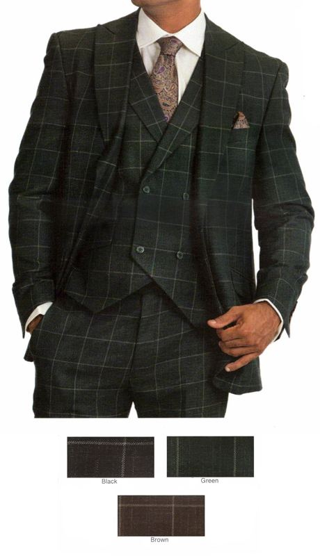 ST5904-CO ( 3pc Single Breasted Suit, One Button, Peak Lapel Jacket, Double Breasted, Four Button)