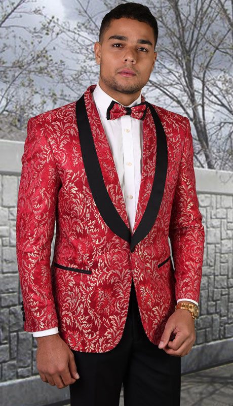 LJ-100-RE ( 1pc Single Jacket With Matching Bow Tie )