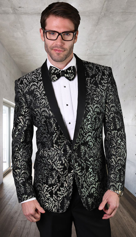 LJ-100-BL ( 1pc Single Jacket With Matching Bow Tie )