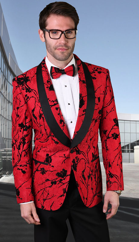 LJ-101-RE ( 1pc Single Jacket With Matching Bow Tie )