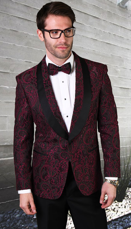 LJ-102-PL ( 1pc Single Jacket With Matching Bow Tie, Super 140's )