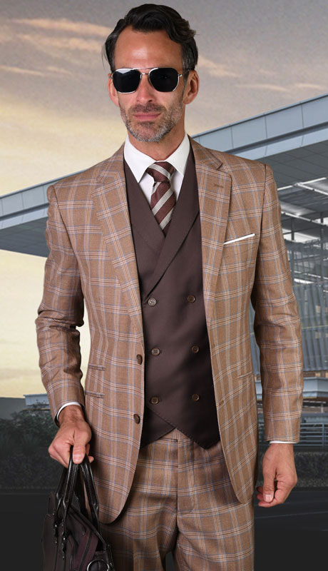 FINO-TA ( 3pc Tailored Suit With Fit Flat Front Pants )