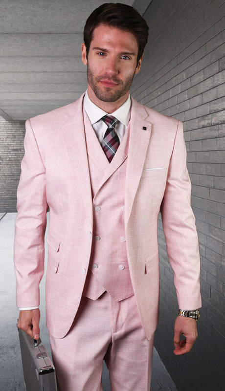 LANZO-PI ( 3pc Tailored Suit With Fit Flat Front Pants )