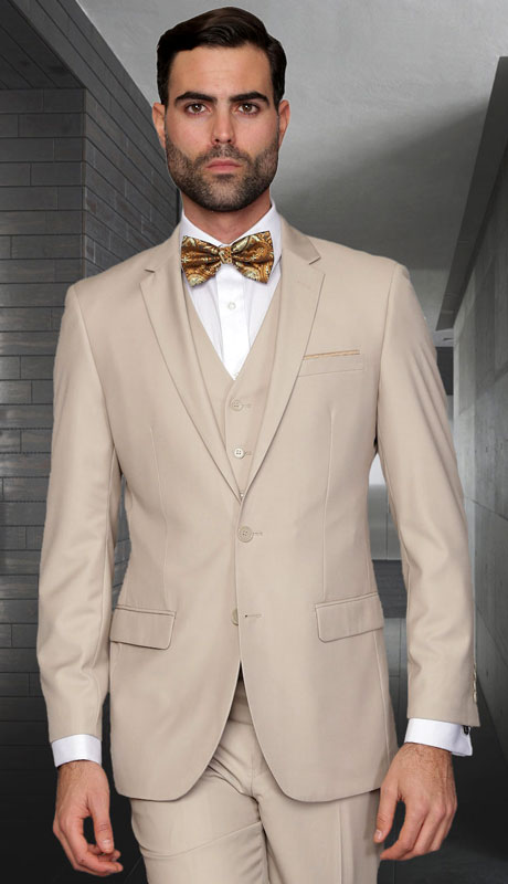 LORENZO-TA ( 3pc Slim Fit Suit With Flat Front Pants Super 150's )