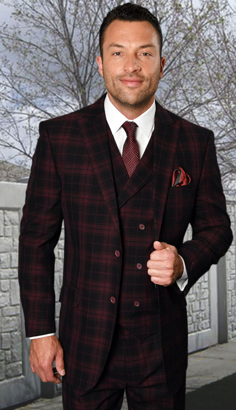 BEDFORD-BU ( 3pc Regular Fit Suit With Pleated Pants, Super 150's )