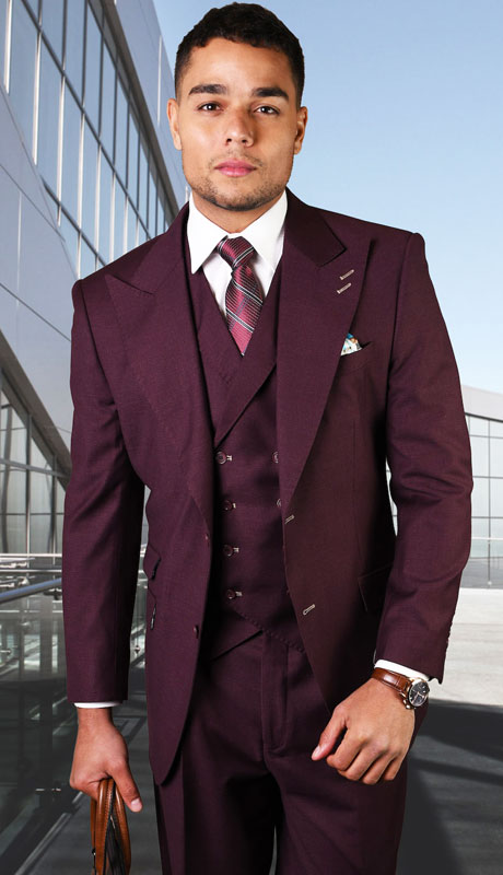 POSITANO-BU ( 3pc Regular Fit Suit With Pleated Pants, Super 150's )