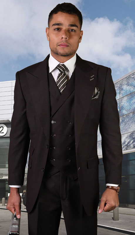 POSITANO-BR ( 3pc Regular Fit Suit With Pleated Pants, Super 150's )