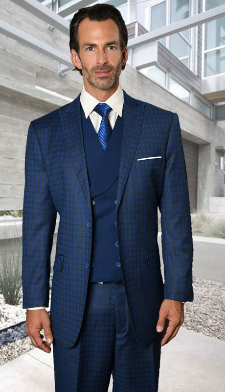 RODEO-SA ( 3pc Regular Fit Suit With Pleated Pants, Super 150's )