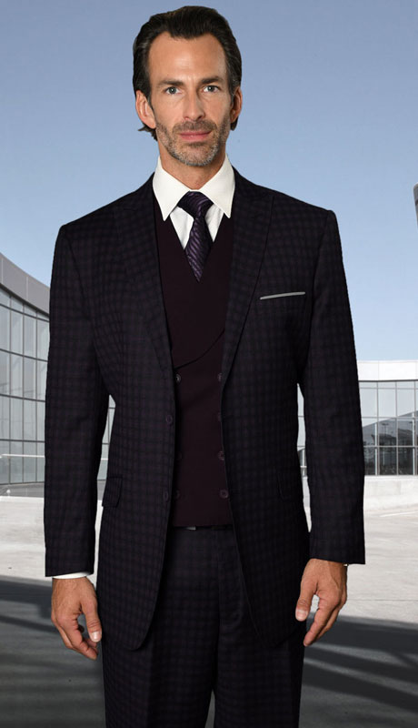 RODEO-BU ( 3pc Regular Fit Suit With Pleated Pants, Super 150's )