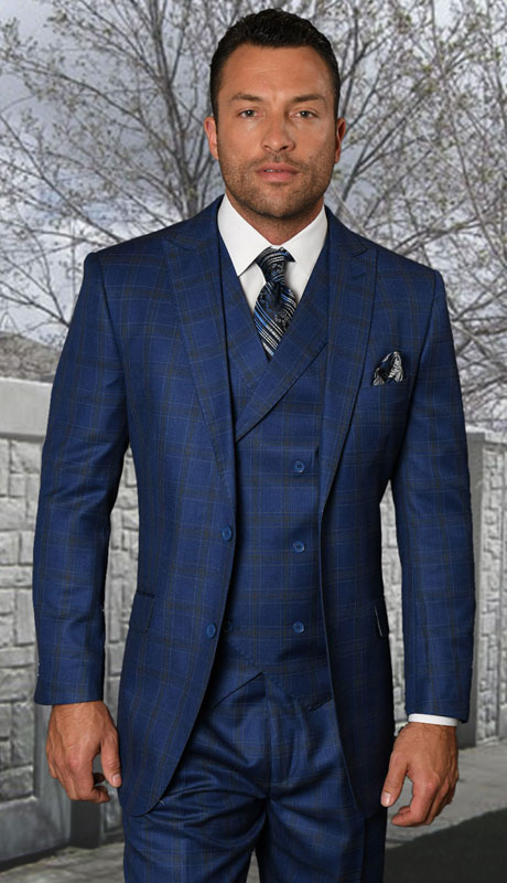SIERRA-FB ( 3pc Regular Fit Suit With Pleated Pants, Super 150's )