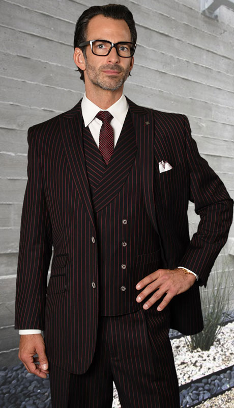 ZARELLI-BR ( 3pc Regular Fit Suit With Pleated Pants, Super 150's )