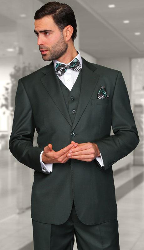 TZ-100-HU ( 3pc Regular Fit Suit With Pleated Pants, Super 150's )