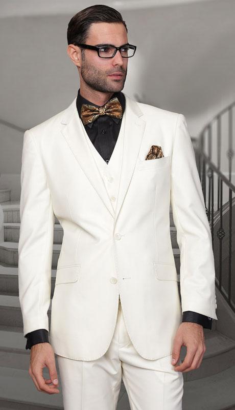 TZ-100-OW ( 3pc Regular Fit Suit With Pleated Pants, Super 150's )