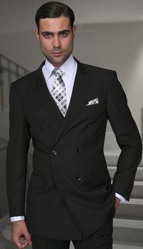 TZD-100-BL ( 2pc Double Breasted Suit, Super 150's )