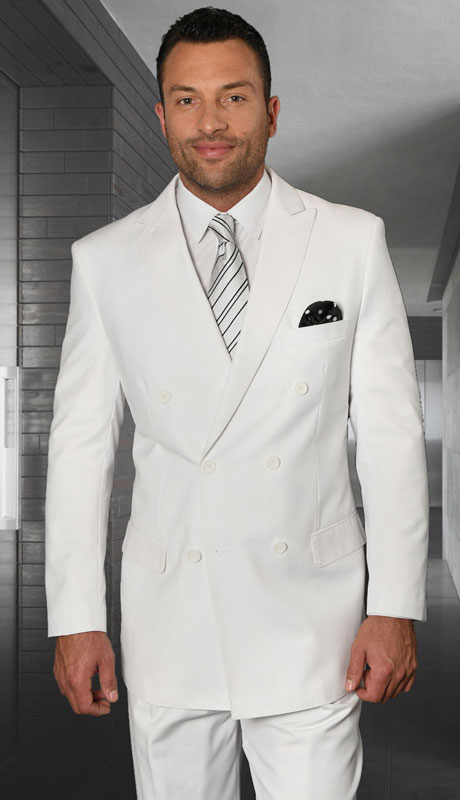 TZD-100-WH ( 2pc Double Breasted Suit, Super 150's )